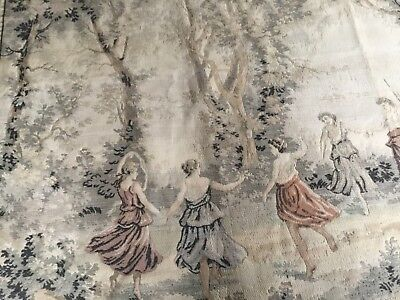 large antique or vintage verdure wall hanging tapestry