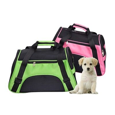 Pet Carrier Bag Breathable Mesh Puppy Dog Cat Carrying Travel Shoulder Tote Bag