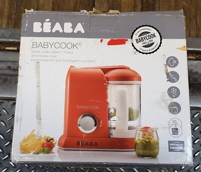 BEABA Babycook Red Stainless Steel Water Reservoir 4-in-1 capability 912369