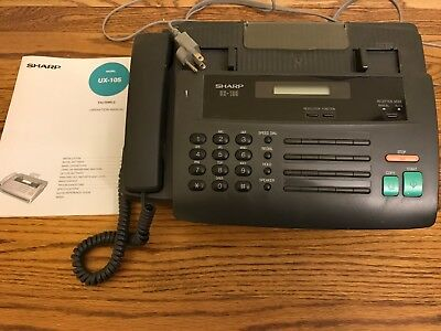 Sharp UX-105 Facsimile (Fax) Machine