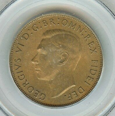 Great Britain 1951 Penny  Pcgs Ms66 Rb