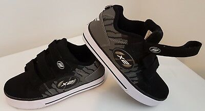 Heelys x2 Dual Up - UK size 3 - Boys - Black and Grey Suede - Nearly NEW!!!