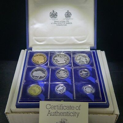 SEYCHELLES proof set 1976 with gold 1000 rupees Case & CoA