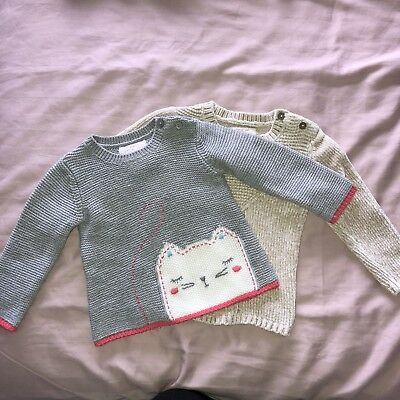 F&F Baby Girl Jumpers X 2 12-18M