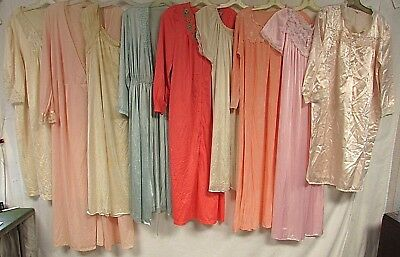 Lot of 40 Vintage Nightgowns Robes Babydoll Nylon Lace Floral Nightie Vanity Fai