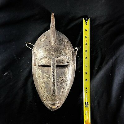 REAL Vintage African Handcrafted Wooden Mask by the Bamana Tribe, Mali