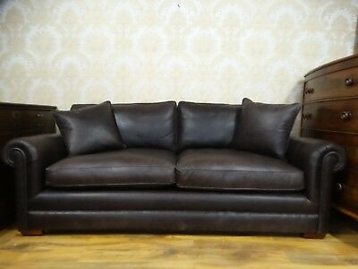 Peachy Derwent Parker Knoll 3 5 Seater Large Brown English Leather Forskolin Free Trial Chair Design Images Forskolin Free Trialorg