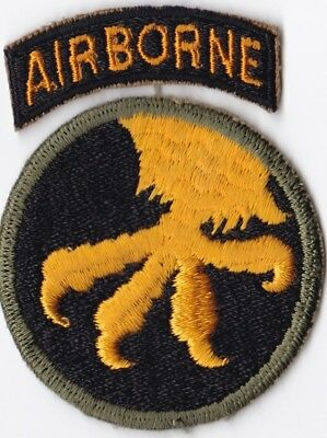 U.S. Army WW II 17th Airborne Infantry Division Patch and Tab SSI - NO GLOW