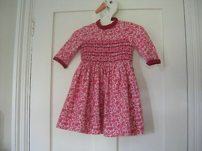Vintage Fortnum and Mason Smocked Dress Liberty 18 Months 1940's 1950's