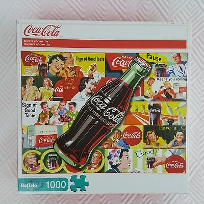 Always Coca-Cola 1000 Pieces Puzzle Old-Fashioned Bottle Marketing Ads New