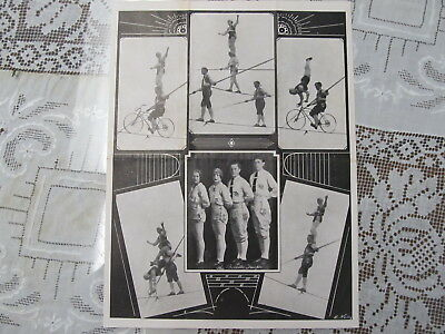 The Great Billetti Troupe Circus Wire Act Letterhead /autograph