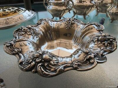 Old Footed Fruit Bowl Sterling Silver Reed Barton Francis-1 Old Heavy Handmade