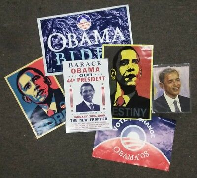 Barack Obama 2008 Presidential Poster Lot Campaign Inauguration 6 pc. Obey art