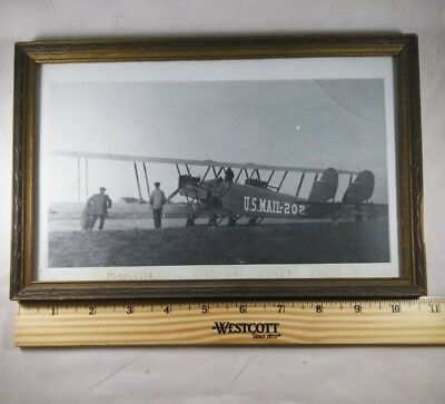 Antique U.S. Mail Plane Photograph 1920 Airplane Liberty Engine Martin Model MP