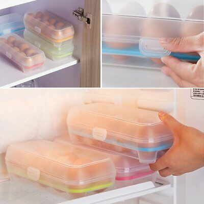 10 Cells Eggs Space-saving Fresh Box Storage Container Case Plastic Crisper U2