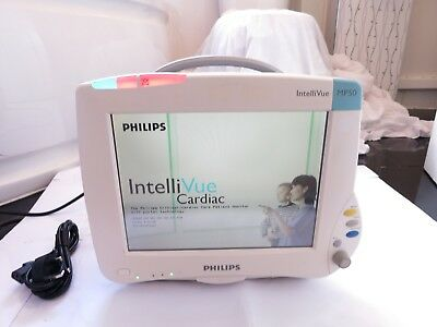 Philips Intellivue Mp50 Touch Screen Portable Patient Colour Cardiac Monitor Uk