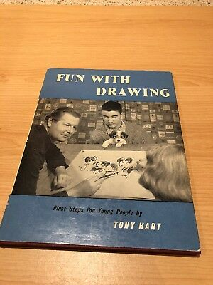 Fun With Drawing - Tony Hart Hardback Book 1961 Very Good Condition