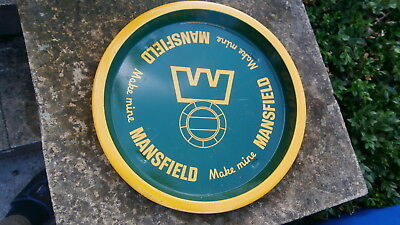 Rare Retro  70's Vintage Wade Pdm Mansfield Beers Tin Pub Advertising Tray