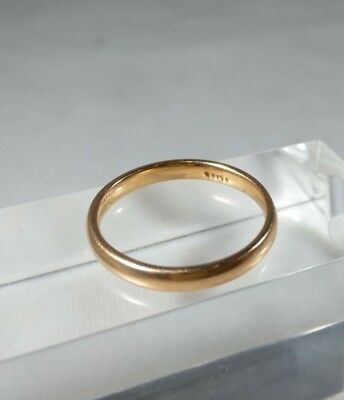 14K Solid Rose Gold Child Ring sz 2.75 Extra Small Ring Pinkie Plain Band 1.5g