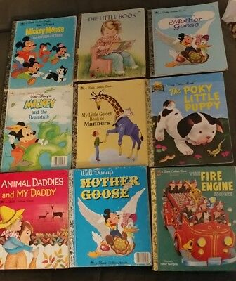 Vintage Lot Of 9. Little Golden Books. Various Titles. Great Books!