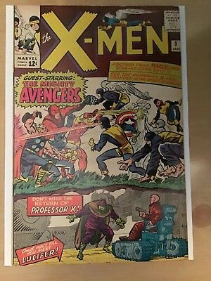 X-Men #9  FN+  Avengers Crossover  1st Lucifer