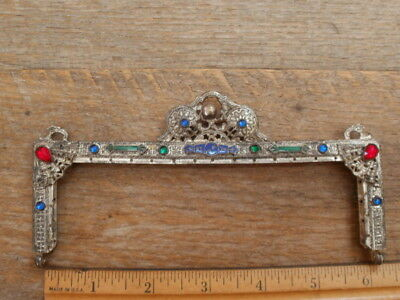 Gorgeous ANTIQUE Vintage JEWELED PURSE FRAME French VICTORIAN Flapper