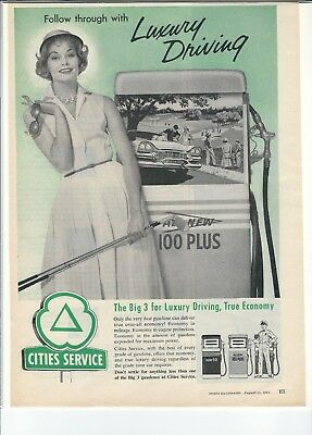 Vintage 1958 Cities Service Advertisement Sports Illustrated