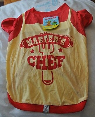 "Dogs Outfit Master Chef XL - fit 16"" Dog T Shirt/Vest"