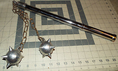 Double Mace Ball with Hidden Dagger in Handle- Silver