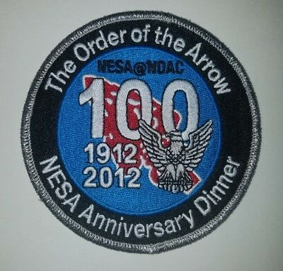 2012 NOAC NESA 100th Anniversary of Eagle Scout Silver Mylar OA Dinner Patch