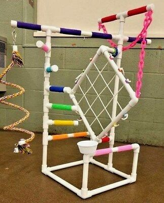 """3' Tall Climber 1/2"""" PVC Parrot Perch  Stand  Play Gym   **FREE SHIPPING!**"""