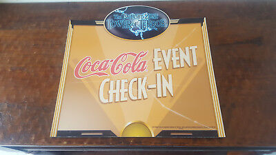 Disneyland Tower Of Terror / Coke Prop Sign Media Event Check In Sign Park Used