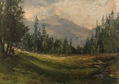 Painting By Mary H. Ross Early California artist landscape