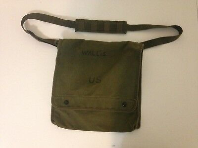 "US Army Map Bag Case Photograph Olive Drab Officer 12""x11""x3"""