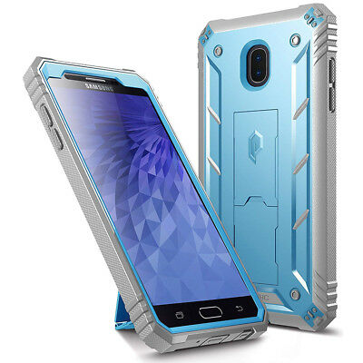For Samsung Galaxy J7 2018 Case Poetic Revolution【360 Degree Protection】Blue