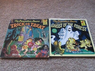 Lot of 2 Berenstain Bears Softcover Books, Trick Or Treat, Ghost of the Forest