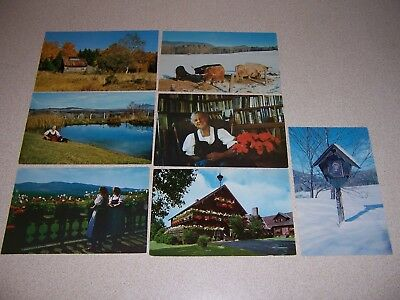 1960s TRAPP FAMILY LODGE STOWE VERMONT VTG POSTCARD LOT of 20 DIFF.