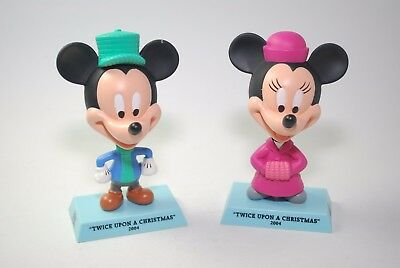 Disney HOLIDAY TREASURES COLLECTIBLE MICKEY & MINNIE FIGURINES NEW
