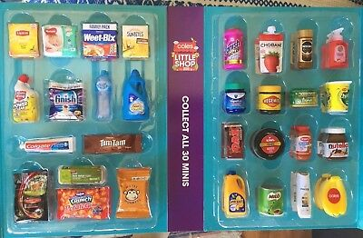 Coles Little Shop Mini Collectables - Free Postage Within 24 Hrs Of Order