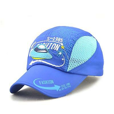 eb50ad4382f Kids Boy Lightweight Summer Quick Drying Sun Hat Airy Mesh Sports Baseball  Caps
