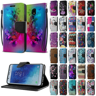 For Samsung Galaxy J7 J737/Refine/Star/J7V 2nd Gen 2018 Flip Wallet Case Cover