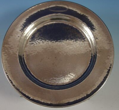 "McChesney Sterling Silver Child's Plate Hand Hammered 6 1/2"" Diameter (#2769)"