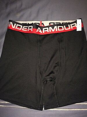Boy's Under Armour fitted boxer shorts Black, Red & gray Size Large YLG NEW NWT