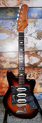 """Evans"" Guyatone LG130T 1960s ""Sunburst"" solid body electric guitar very nice"