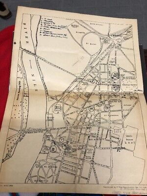 WWII Cairo Egypt U.S. Armed Forces Map Pyramids Air Transport Command