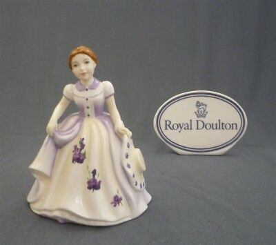 "Month ""FEBRUARY"" Small Royal Doulton Bone China Doll Pretty Girl Figurine HN4876"
