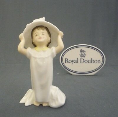 """MAKE BELIEVE"" Royal Doulton England Bone China Little Girl Doll Figurine HN2224"