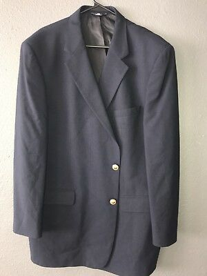 Brooks Brothers 346 Blue Blazer With Gold Buttons 48 Long