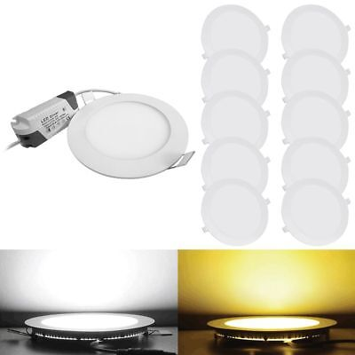10PACK 20PACK LED Recessed Ceiling Panel Down Light Ultra Slim Kitchen 6-21W