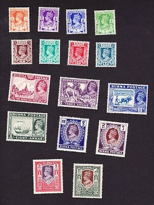 Burma GVI 1938 set mm/lmm,fine  cat £225